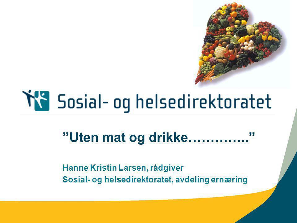 Uten mat og drikke………….. Hanne Kristin Larsen, rådgiver Sosial- og helsedirektoratet, avdeling ernæring