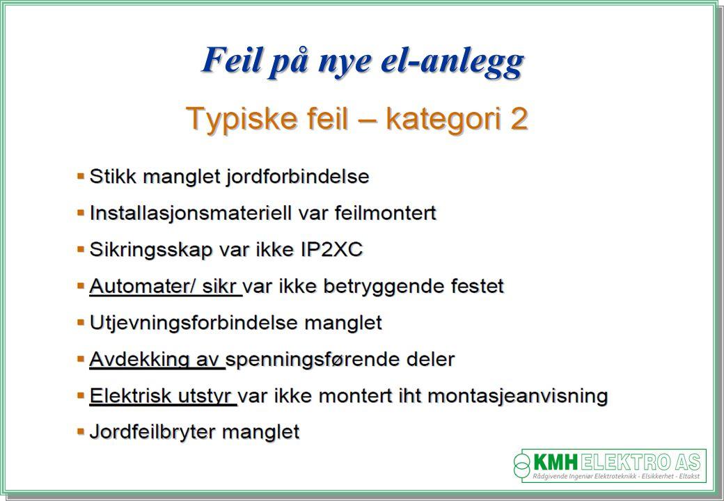 Kjell Morten Halvorsen Feil på nye el-anlegg