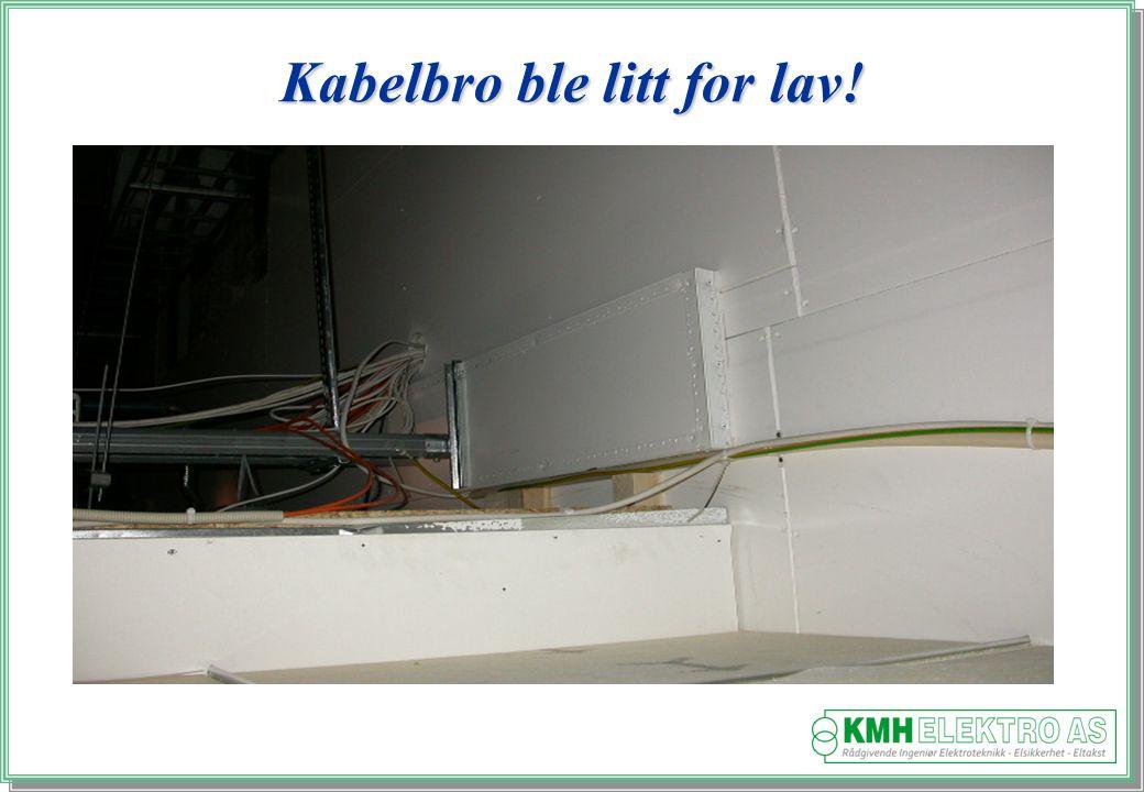 Kjell Morten Halvorsen Kabelbro ble litt for lav!
