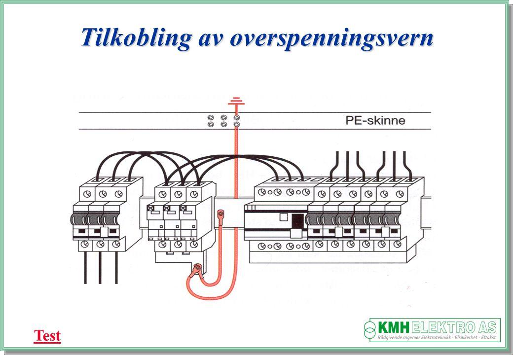 Kjell Morten Halvorsen Tilkobling av overspenningsvern Test