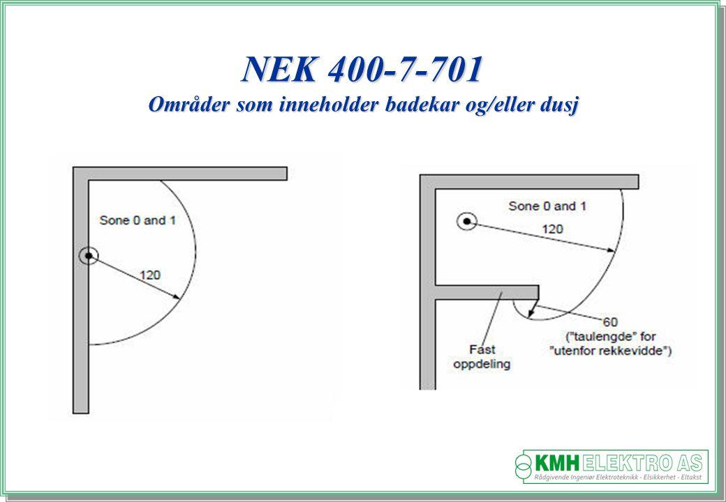 Kjell Morten Halvorsen NEK 400-7-701 Områder som inneholder badekar og/eller dusj