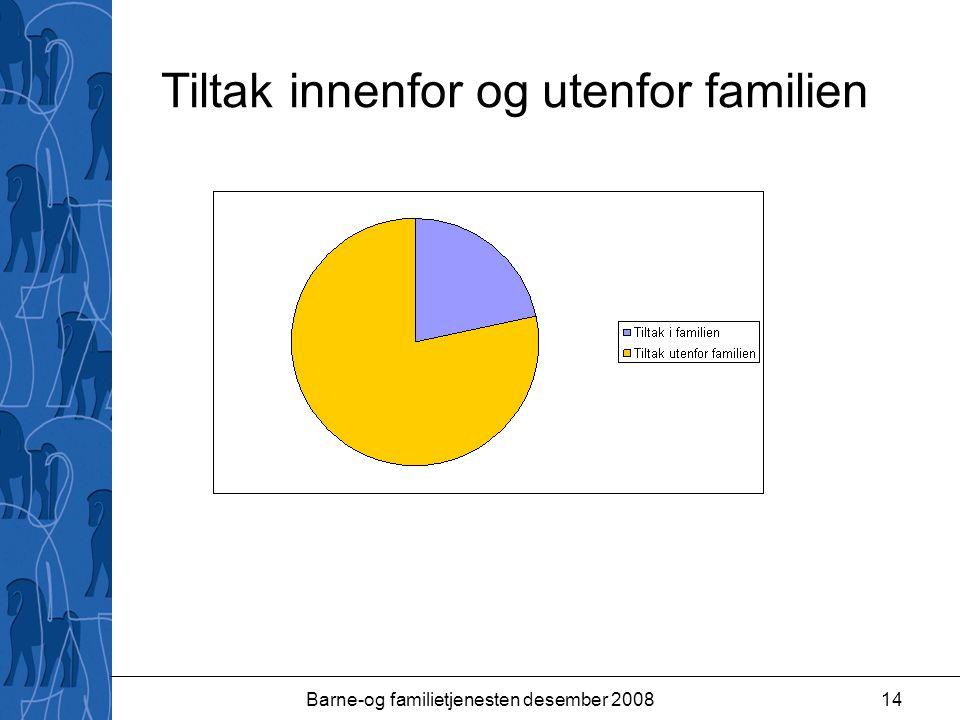 Barne-og familietjenesten desember 200814 Tiltak innenfor og utenfor familien