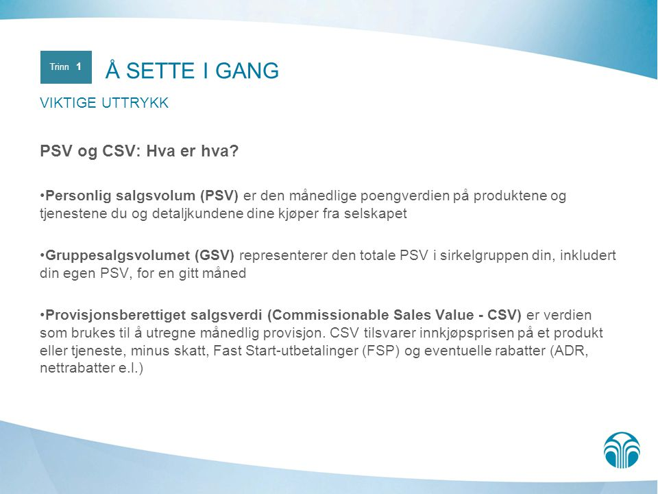 PSV og CSV: Hva er hva.