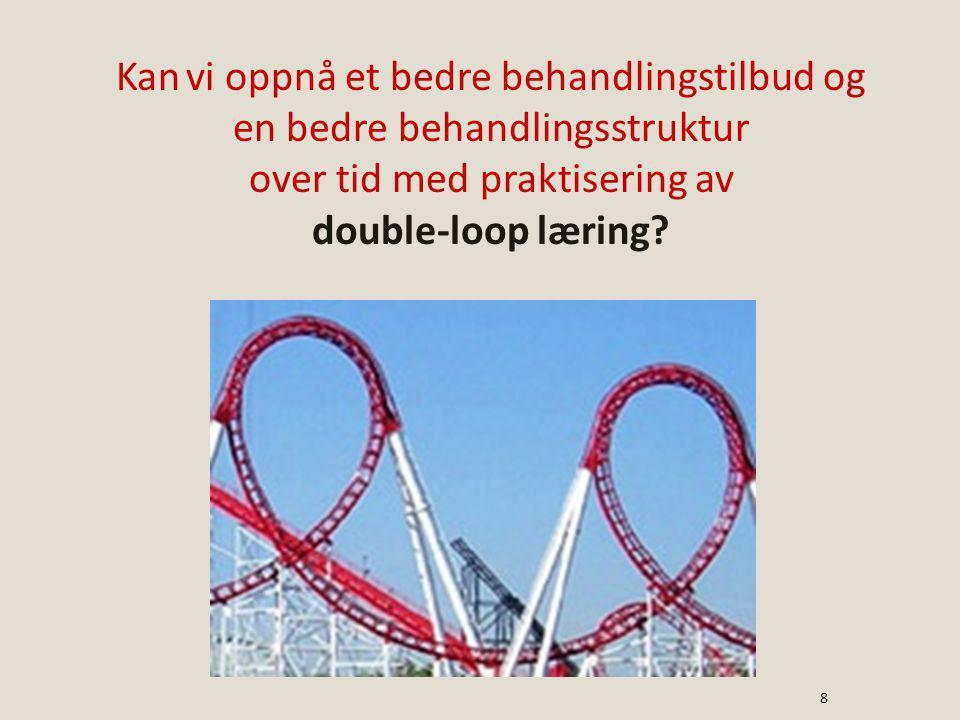 Kan vi oppnå et bedre behandlingstilbud og en bedre behandlingsstruktur over tid med praktisering av double-loop læring.