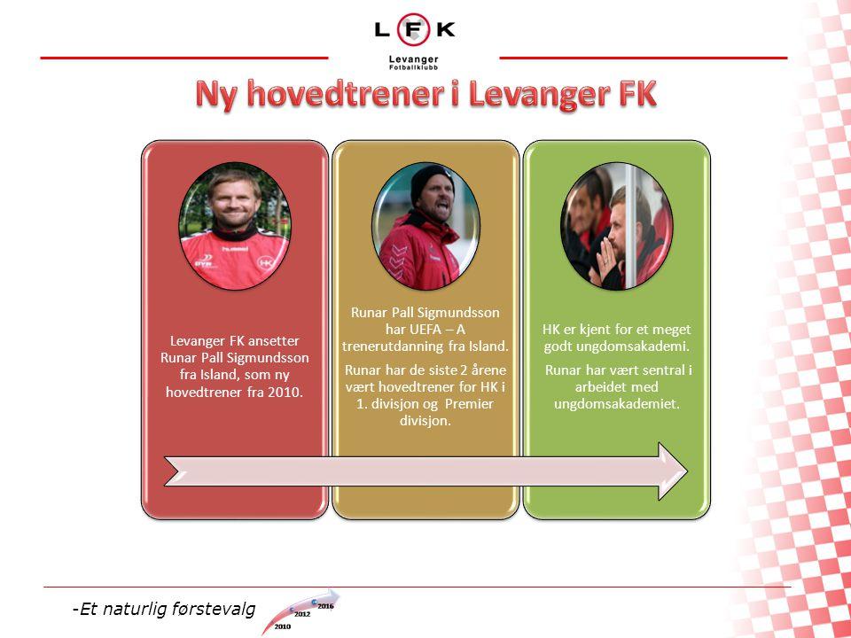 Levanger FK ansetter Runar Pall Sigmundsson fra Island, som ny hovedtrener fra 2010.