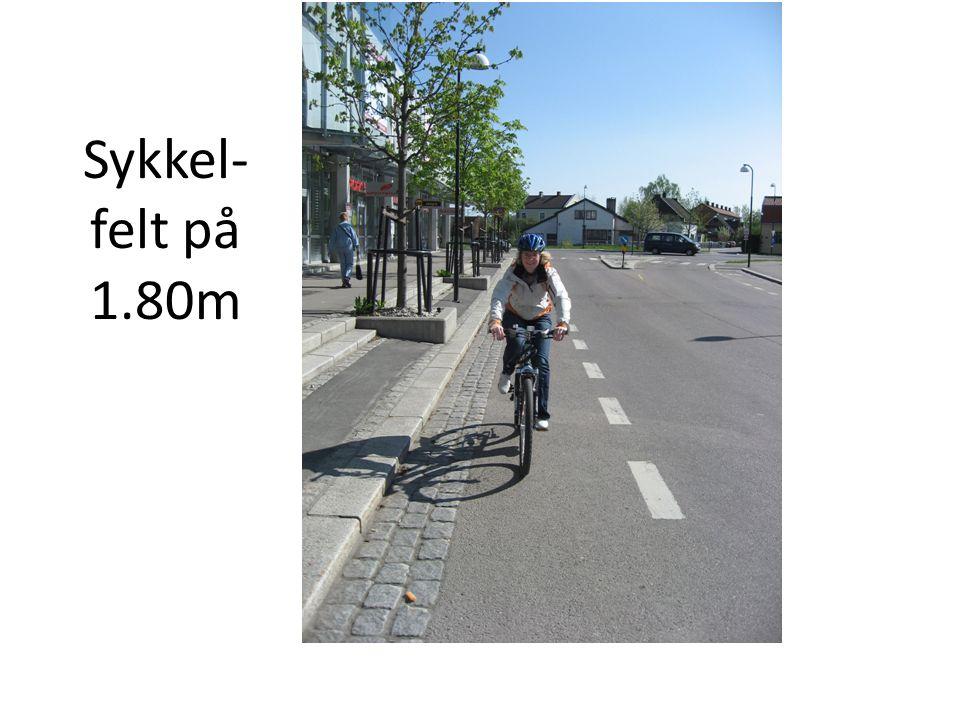 Sykkel- felt på 1.80m