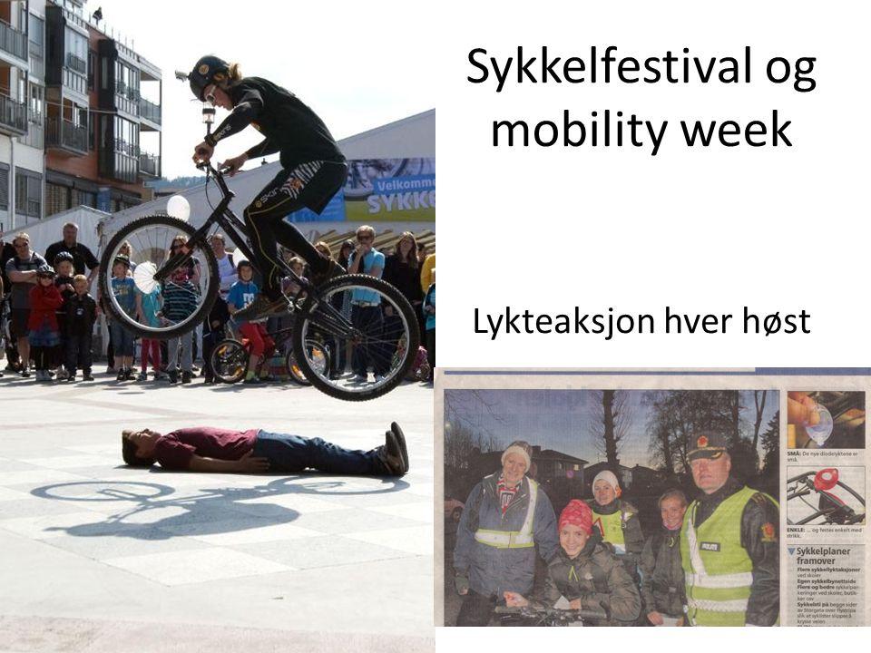 Sykkelfestival og mobility week Lykteaksjon hver høst