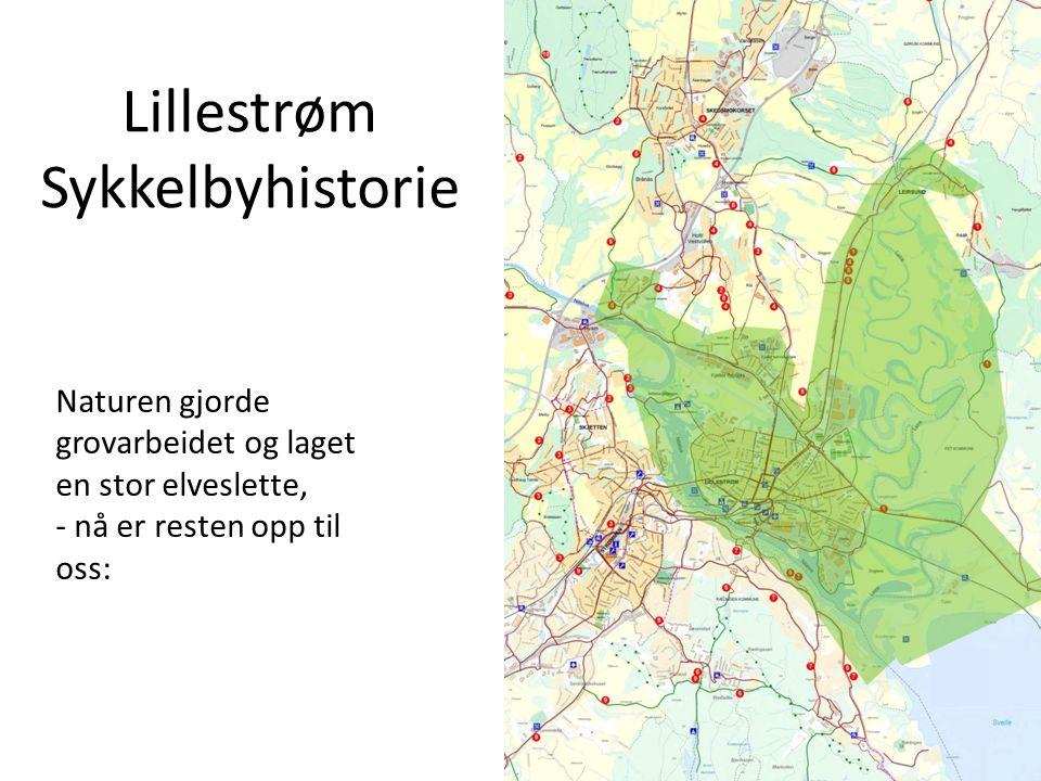 Lillestrøm Sykkelbyhistorie Naturen gjorde grovarbeidet og laget en stor elveslette, - nå er resten opp til oss: