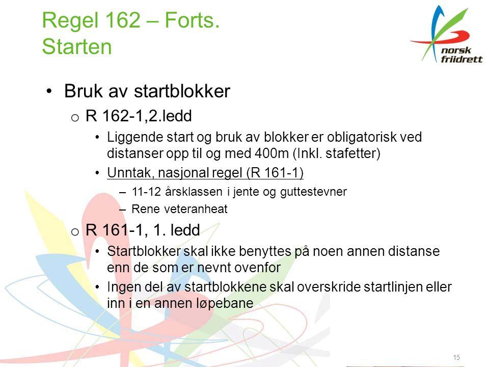 15 Regel 162 – Forts.