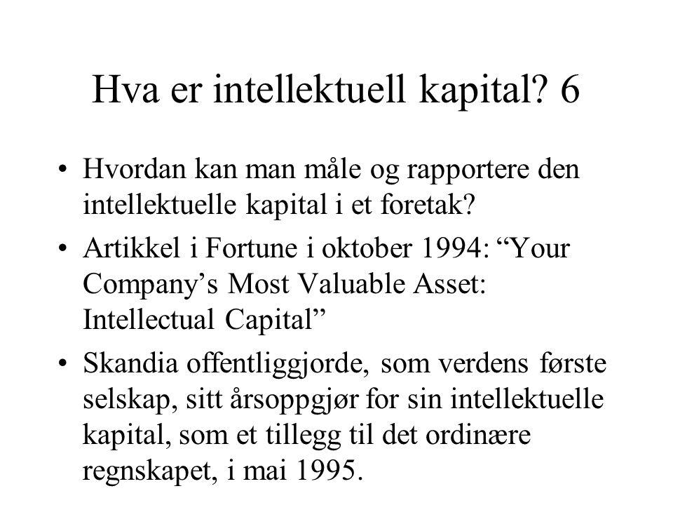 Hva er intellektuell kapital.