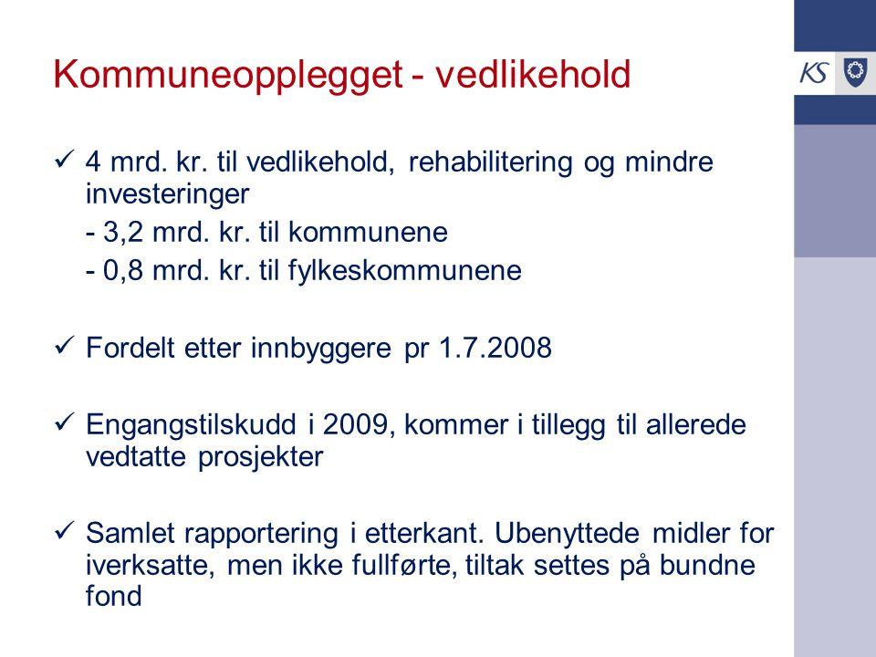 Kommuneopplegget - vedlikehold 4 mrd.kr.
