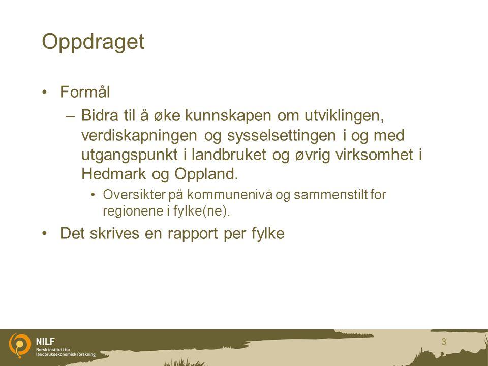Inntekter for skogeiere med positiv næringsinntekt i 2010 Antall skogeiere med positiv nærings- inntekt skogbruk Gjennom- snittlig nærings- inntekt skogbruk (kr) Total inntekt skogbruk (mill.kr) Total inntekt jordbruk (mill.