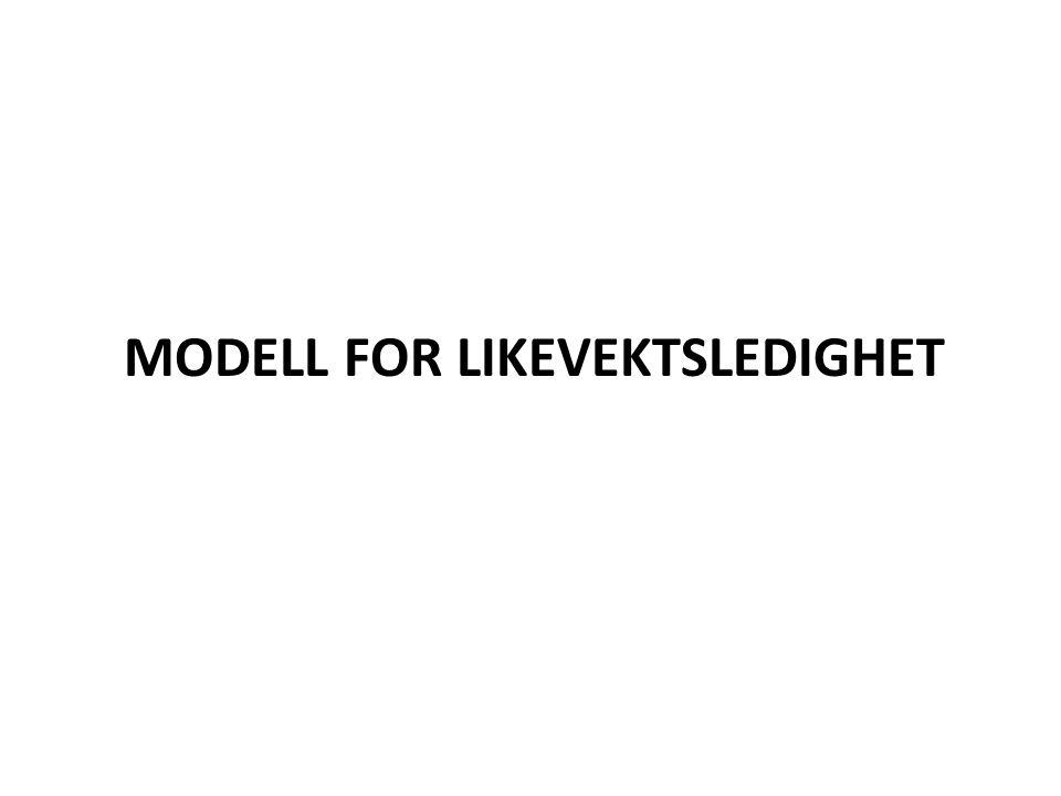 MODELL FOR LIKEVEKTSLEDIGHET