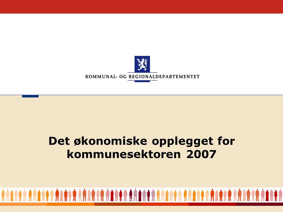 Kommunal- og regionaldepartementet 3 Styrket kommuneøkonomi i 2006 3 mrd.