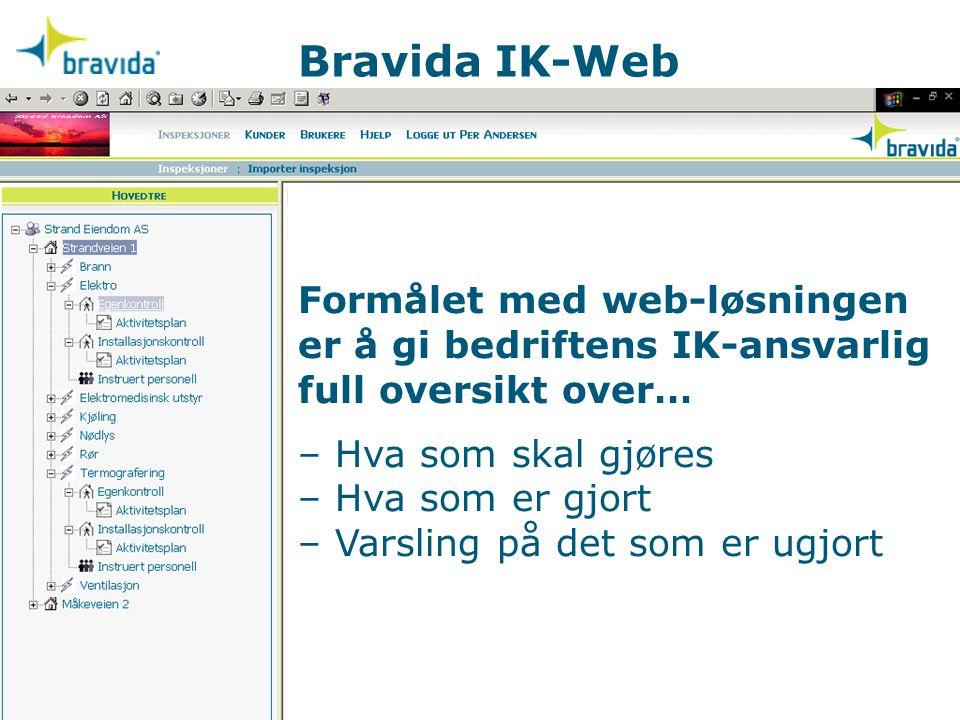 Bravida IK-Web Internkontrollsystem i praksis – En presentasjon av IK-Web Et nytt forretningsområde i Bravida Vi ser fram til samarbeidet.