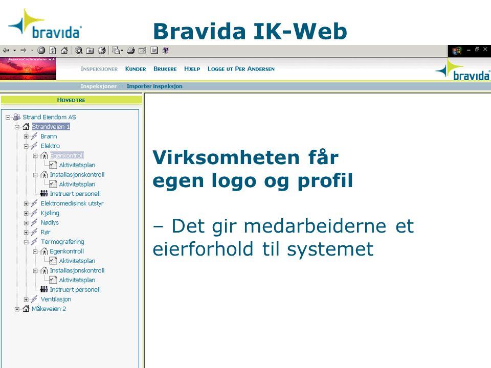 Virksomheten får egen logo og profil – Det gir medarbeiderne et eierforhold til systemet Bravida IK-Web