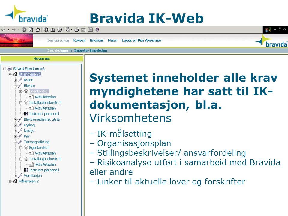 Systemet inneholder alle krav myndighetene har satt til IK- dokumentasjon, bl.a. Virksomhetens – IK-målsetting – Organisasjonsplan – Stillingsbeskrive