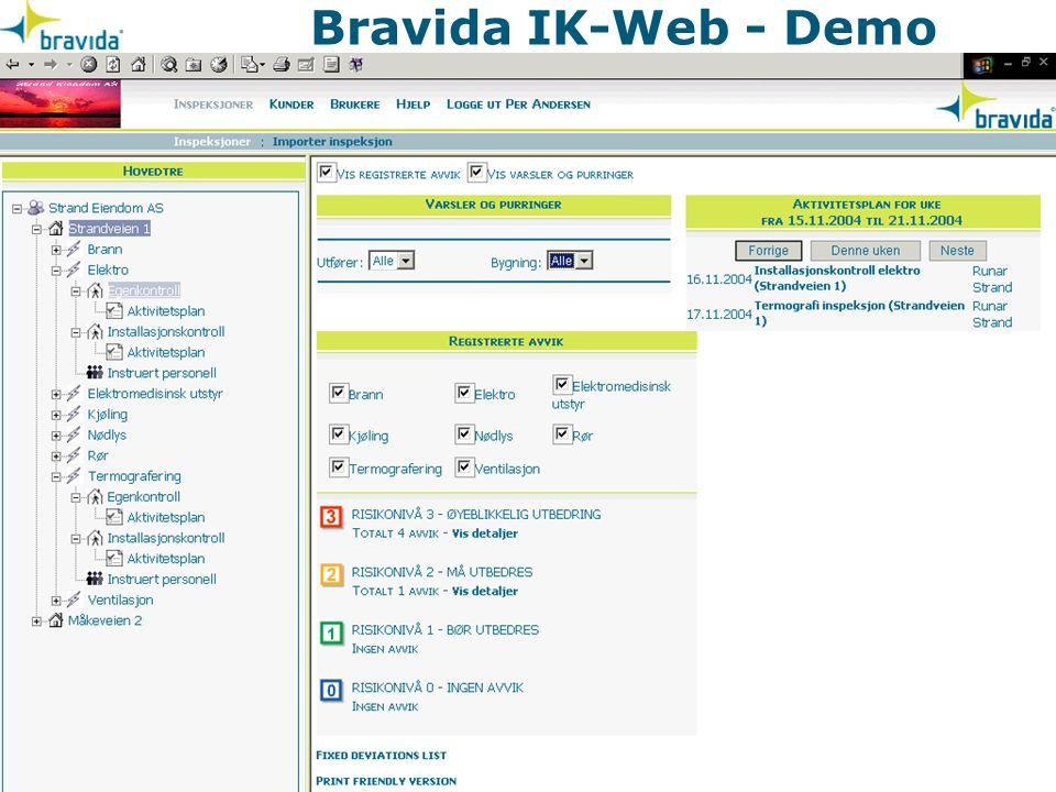 Bravida IK-Web - Demo