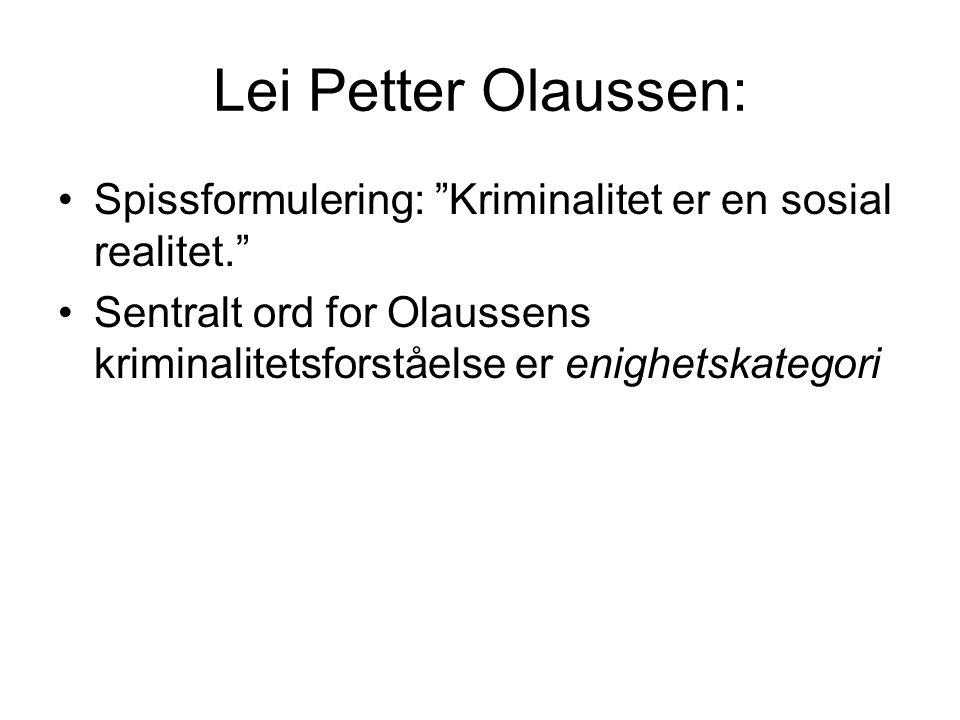 """Cecilie Høigård: Spissformulering: """"Kriminalitet er en størknet maktrelasjon."""" Sentrale ord for Høigårds kriminalitetsforståelse er sosial relasjon, s"""