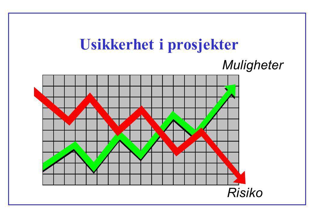 Usikkerhet i prosjekter Muligheter Risiko
