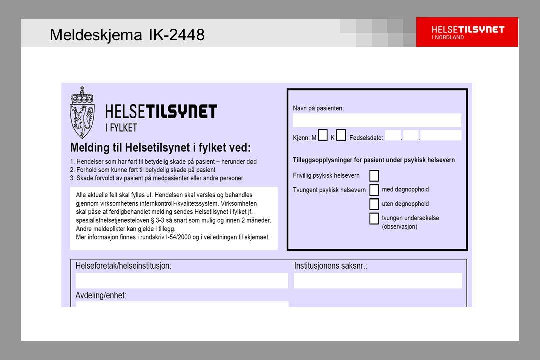 Meldeskjema IK-2448