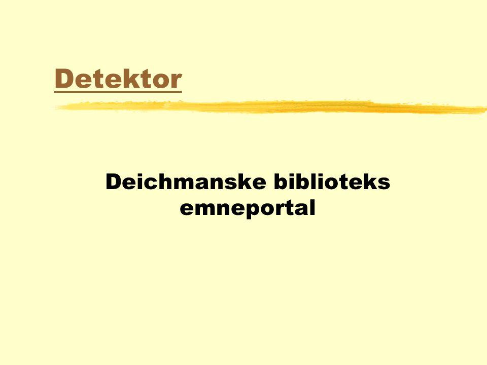 Detektor Deichmanske biblioteks emneportal