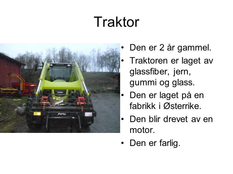 Traktor 51 år gammel.30 hestekrefter. Startet med sveiv eller batteri.