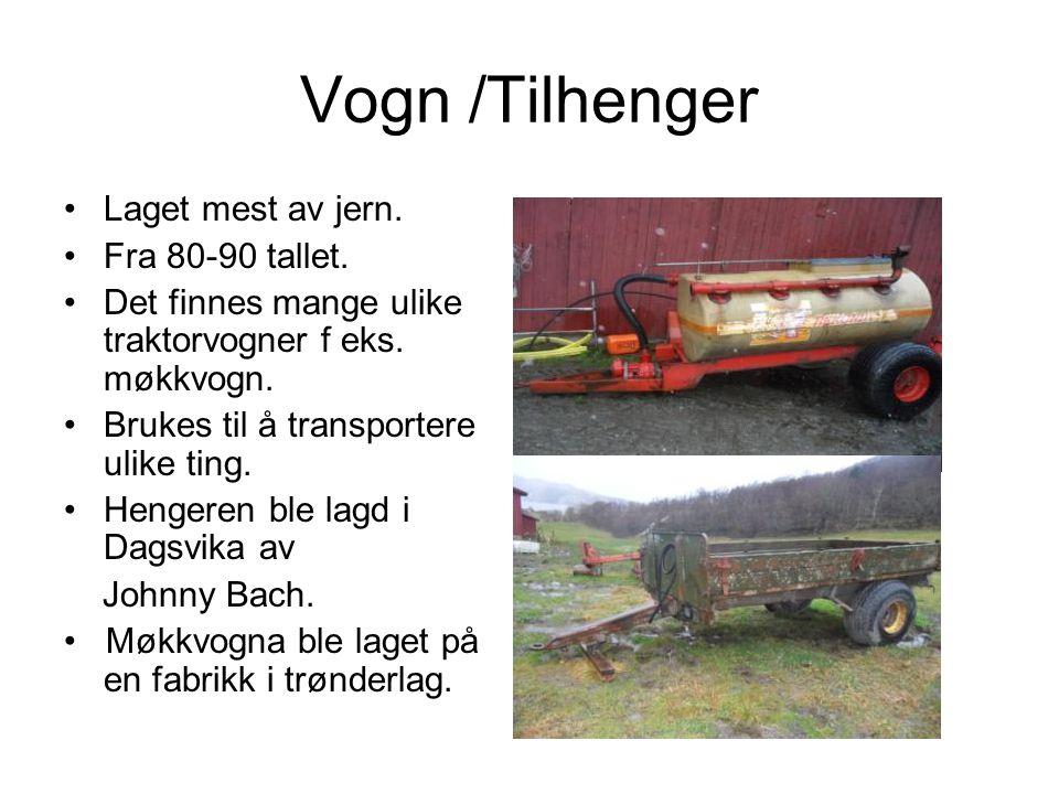 Vogn /Tilhenger Laget mest av jern.Fra 80-90 tallet.