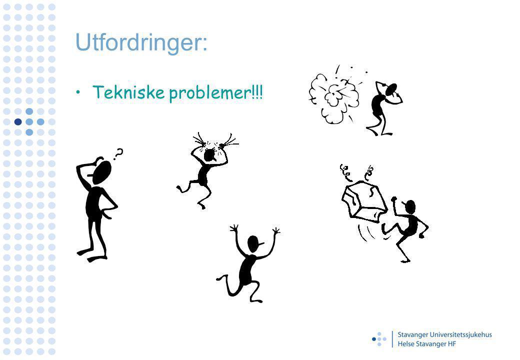 Utfordringer: Tekniske problemer!!!