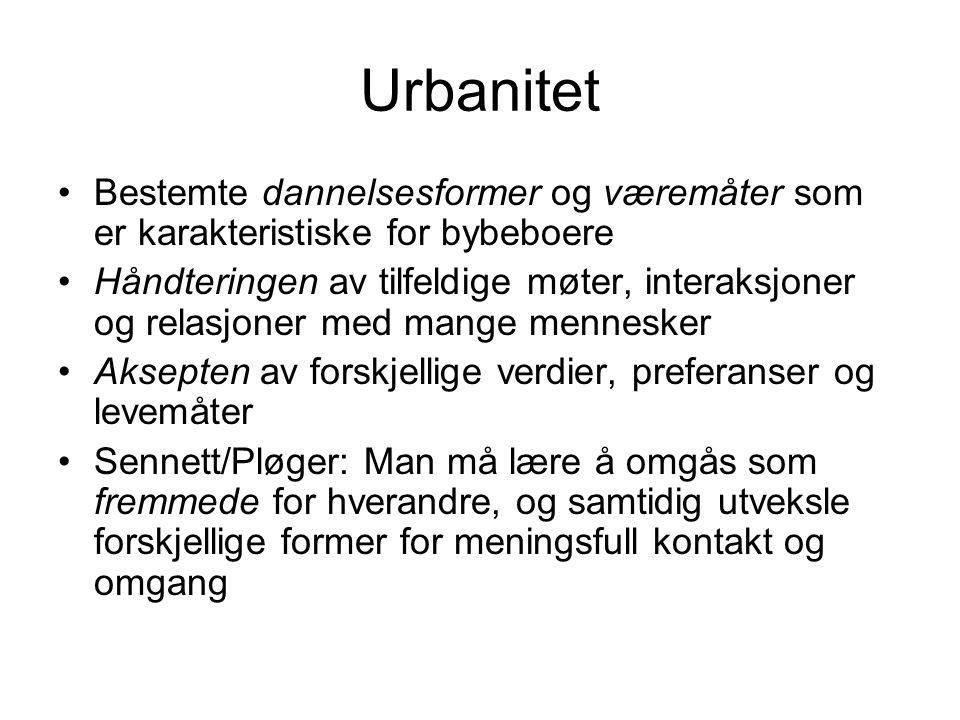 Norges tettbygde steder (Myklebost 1960) 1.Folketetthet (vanskelig å skaffe informasjon) 2.Husavstand (maks.