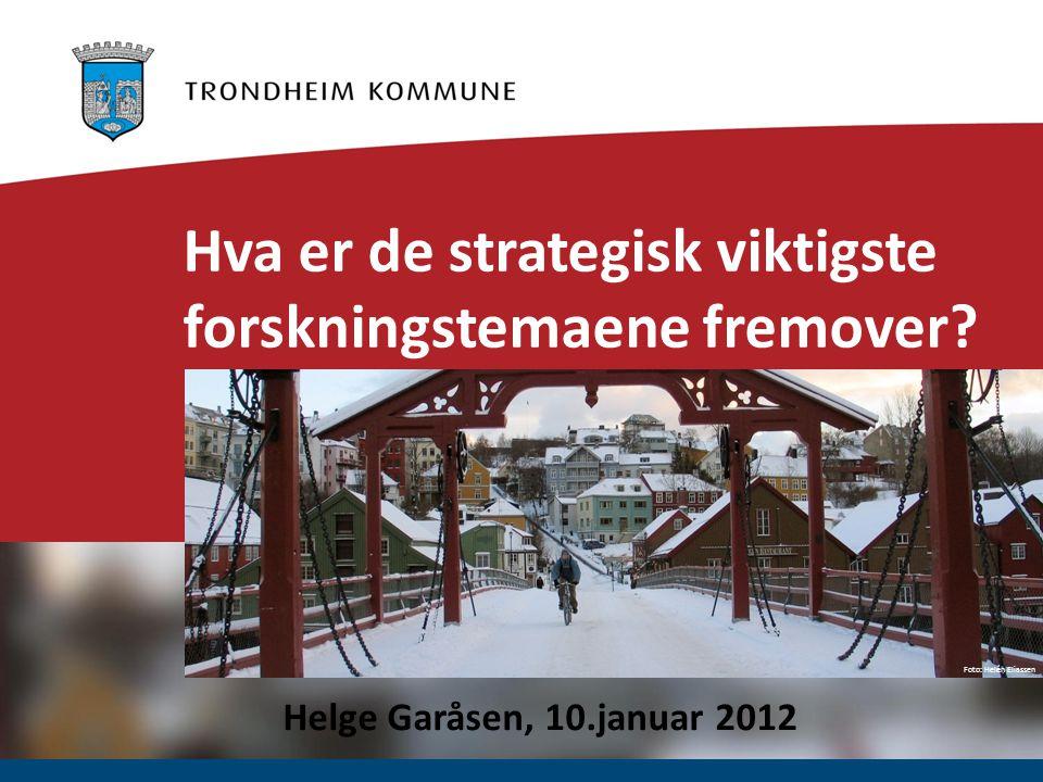 Foto: Helén Eliassen Hva er de strategisk viktigste forskningstemaene fremover.