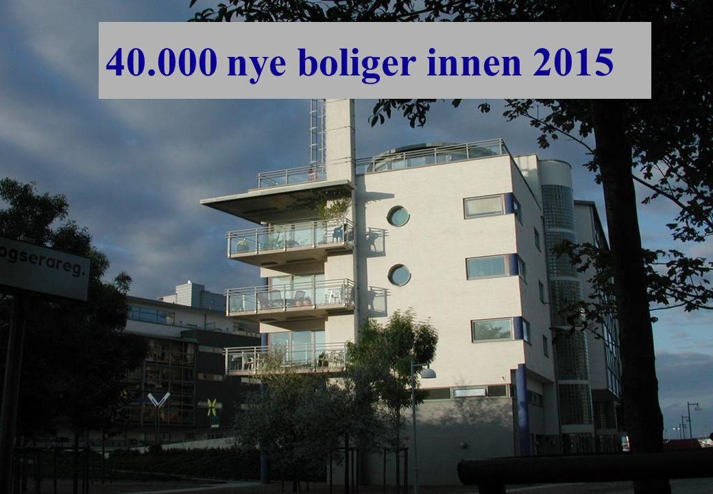 40.000 nye boliger innen 2015
