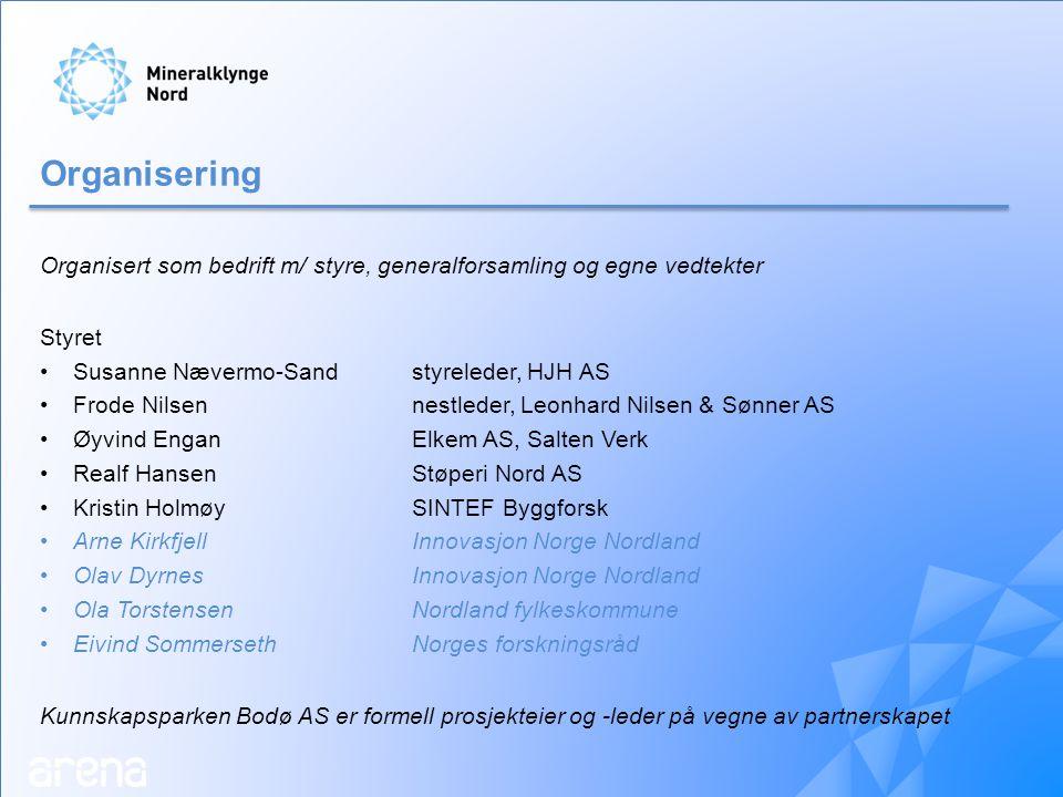 Kontaktinfo: Rune Finsveen (prosjektleder) Kunnskapsparken Bodø mobil: 481 41 595 e-post: rf@kpb.norf@kpb.no Carl Erik Nyvold (prosjektmedarbeider) Kunnskapsparken Bodø mobil: 906 35 620 e-post: cen@kpb.nocen@kpb.no Susanne Nævermo-Sand (styreleder) HJH AS mobil: 476 39 884 e-post: susanne@hjh.nosusanne@hjh.no www.mineralklyngenord.no