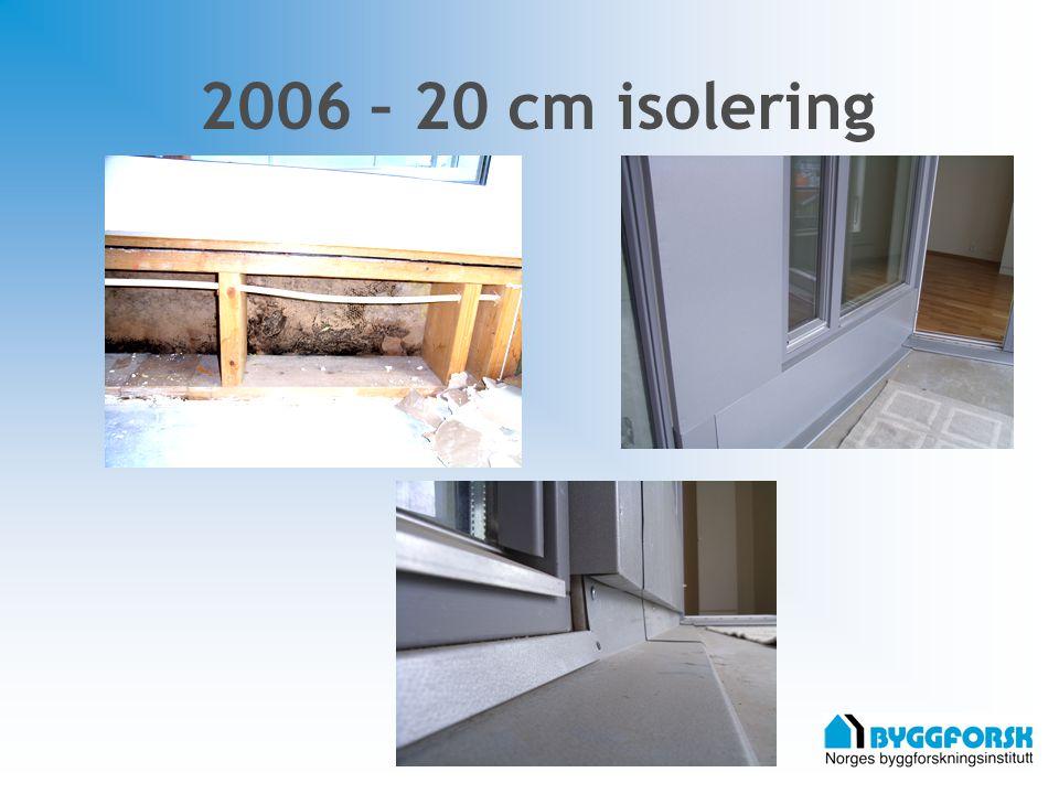 2006 – 20 cm isolering