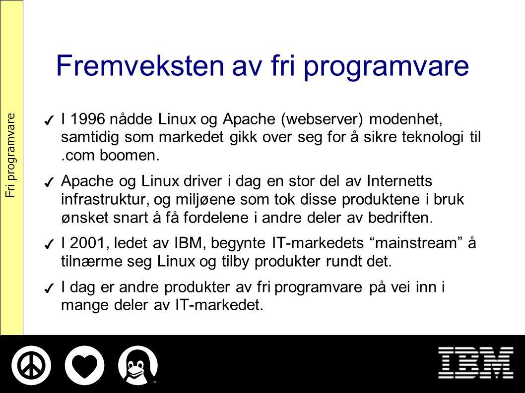 Hva er fri programvare.