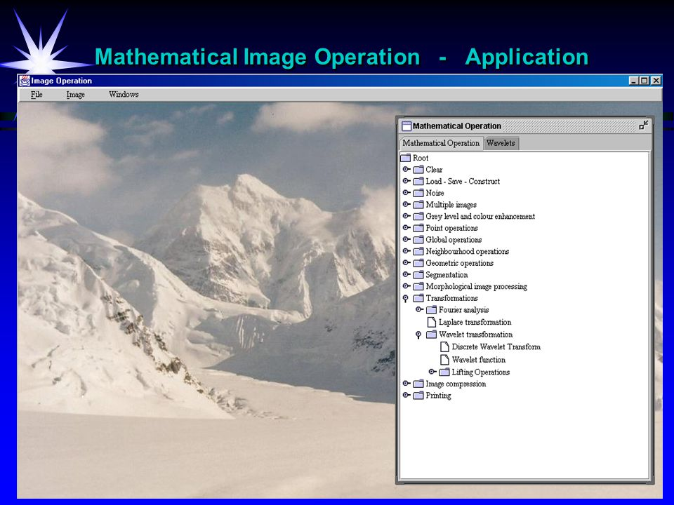 Mathematical Image Operation - Application