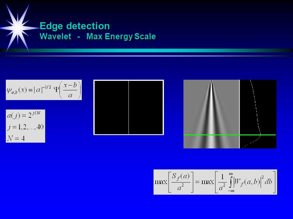 Edge detection Wavelet - Max Energy Scale
