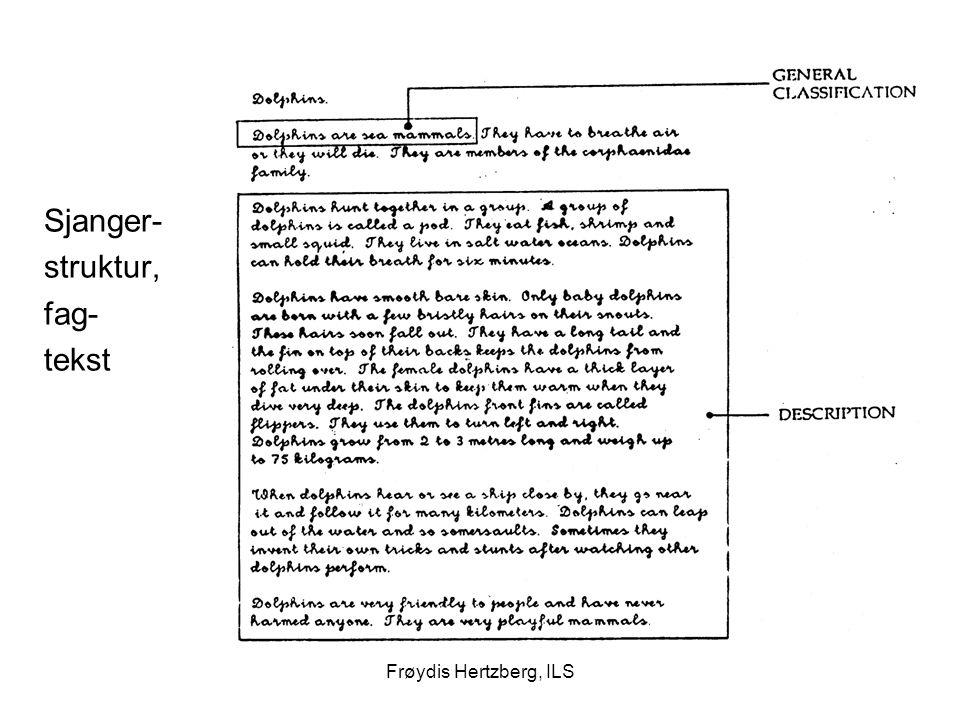 Frøydis Hertzberg, ILS Sjanger- struktur, fag- tekst
