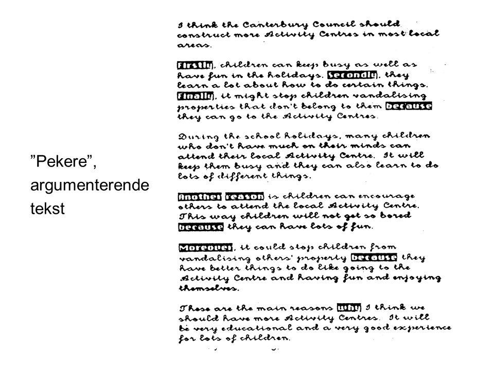 Frøydis Hertzberg, ILS Pekere , argumenterende tekst