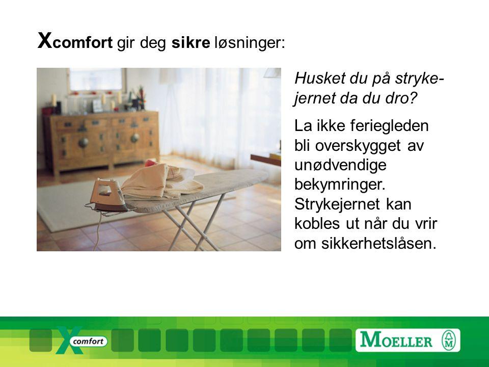 X comfort gir deg sikre løsninger: Husket du på stryke- jernet da du dro.
