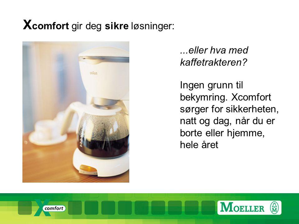 X comfort gir deg sikre løsninger:...eller hva med kaffetrakteren.