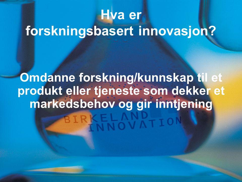 Hva er forskningsbasert innovasjon.