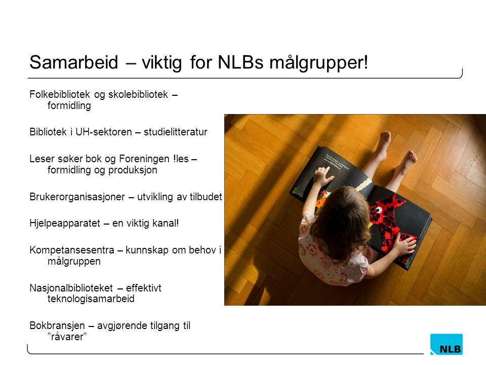 Samarbeid – viktig for NLBs målgrupper.