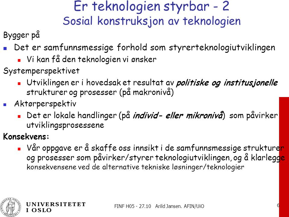 FINF H05 - 27.10 Arild Jansen.