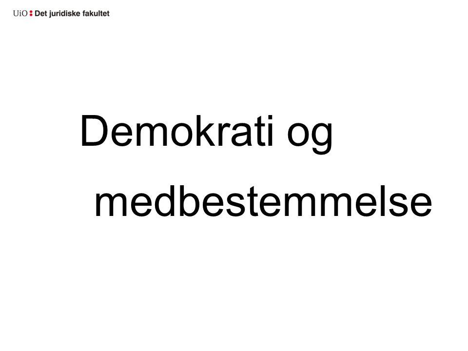 Demokrati og medbestemmelse