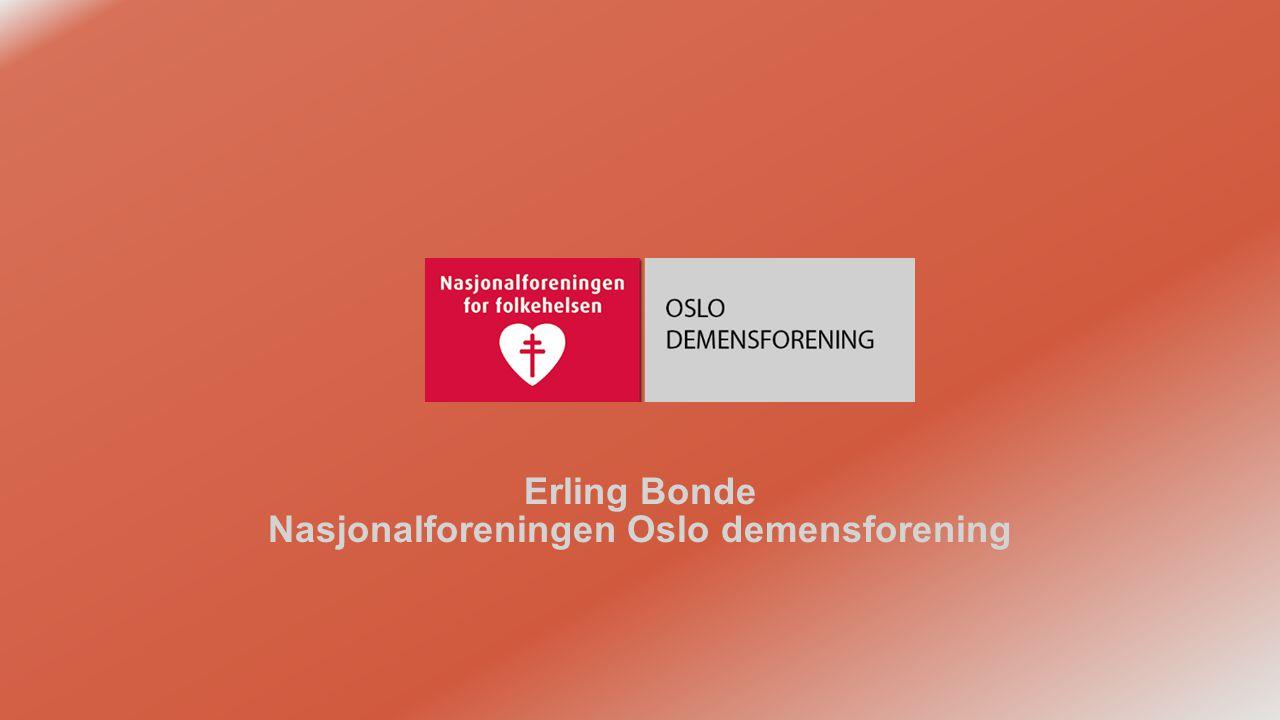 Erling Bonde Nasjonalforeningen Oslo demensforening