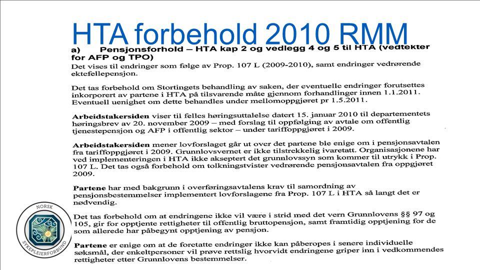HTA forbehold 2010 RMM