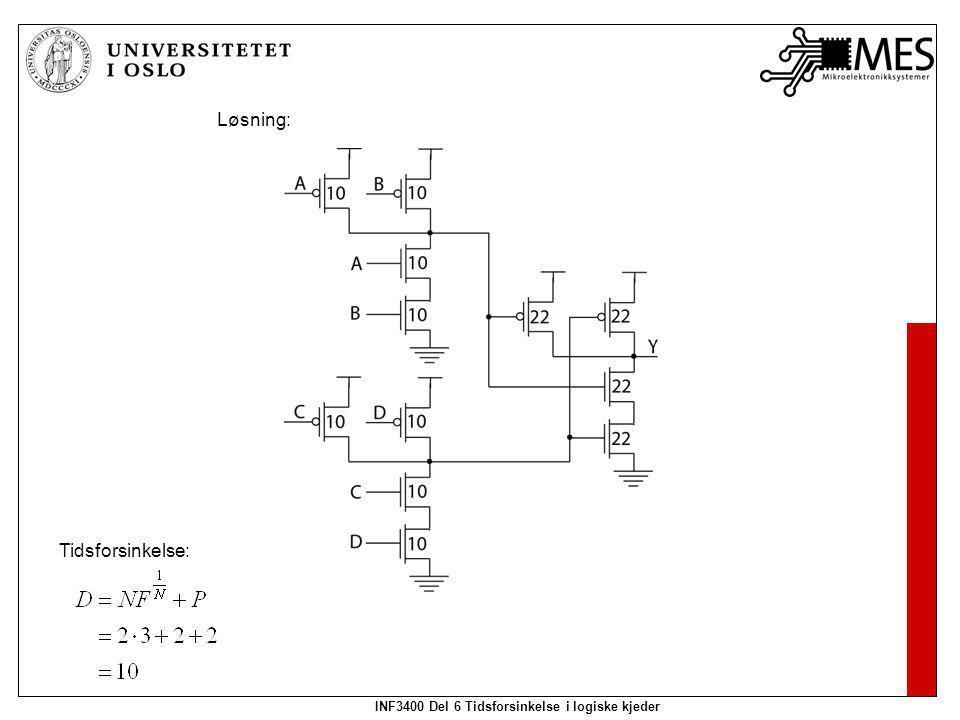INF3400 Del 6 Tidsforsinkelse i logiske kjeder Løsning: Tidsforsinkelse: