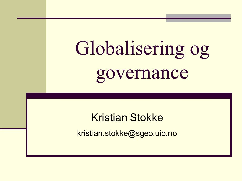 What is governance.