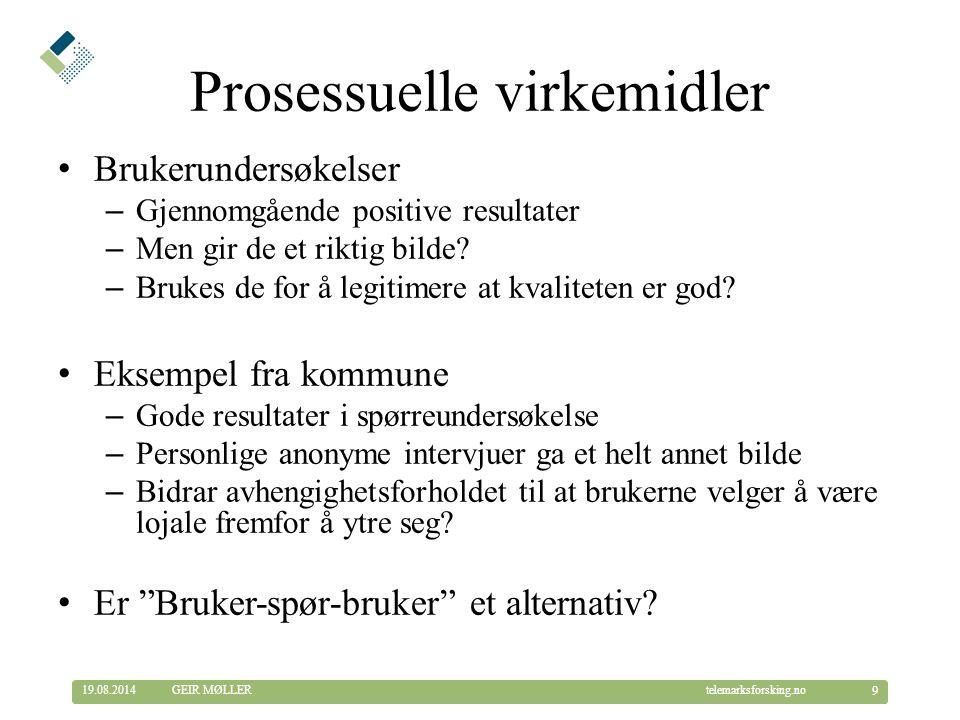 © Telemarksforsking telemarksforsking.no19.08.2014 20 GEIR MØLLER